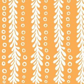 Orange and White Fringe