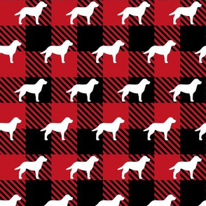 Labrador Retriever Buffalo Plaid