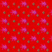 floral red pink green