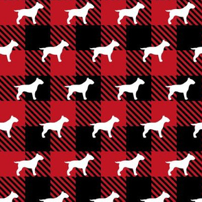 Bull Terrier Buffalo Plaid