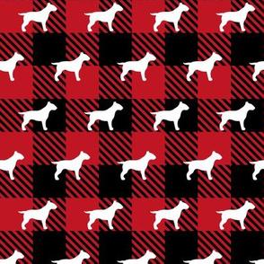 Bull Terrier Buffalo Plaid