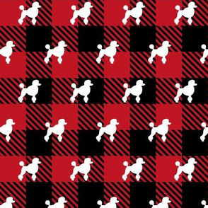 Poodle Buffalo Plaid