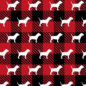 Beagle Buffalo Plaid
