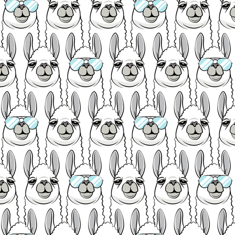 one cool llama fabric by littlearrowdesign on Spoonflower - custom fabric