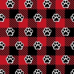 Dog Paws Buffalo Plaid