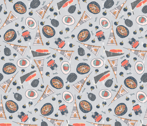 Thailand Travels fabric by scarlette_soleil on Spoonflower - custom fabric