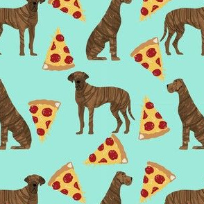 great dane brindle pizza dog breed fabric minty