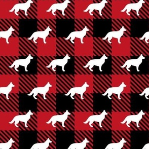 German Shepherd Buffalo Plaid