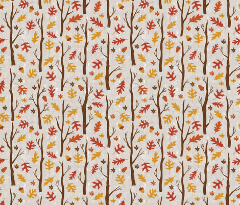 Fall Branches fabric by scarlette_soleil on Spoonflower - custom fabric