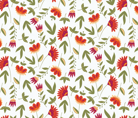 Rustic Fall Floral fabric by scarlette_soleil on Spoonflower - custom fabric
