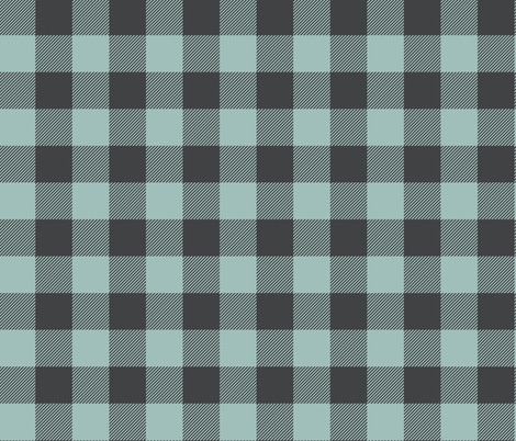 Free Spirit - Buffalo Check - Blue Grey fabric by scarlette_soleil on Spoonflower - custom fabric