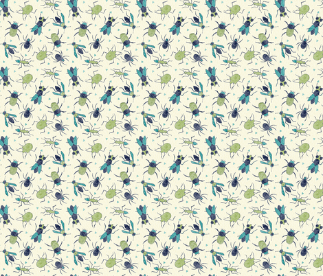 Bugs, Bugs, Bugs fabric by scarlette_soleil on Spoonflower - custom fabric