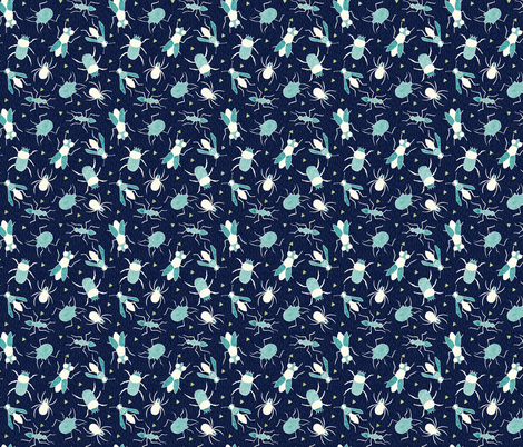 Insects fabric by scarlette_soleil on Spoonflower - custom fabric
