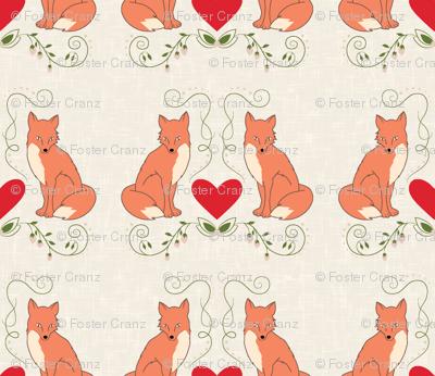 fox print cream texture