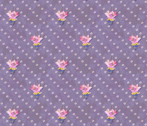 Wildflower Bouquet (small) fabric by tuningmyheart on Spoonflower - custom fabric
