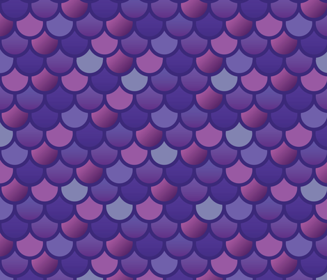 Fish Scales - Extra large mermaid fish-purple pink fabric by little_fish on Spoonflower - custom fabric