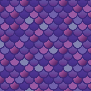 Fish Scales - Extra large mermaid fish-purple pink