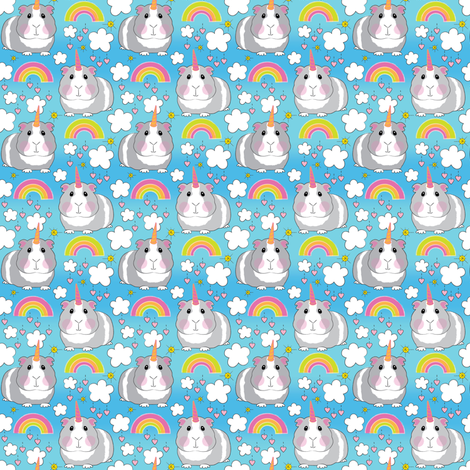 tiny guinea-pigs-and-rainbows fabric by lilcubby on Spoonflower - custom fabric