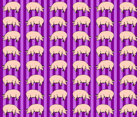 purple pigs fabric by heretherebemonsters on Spoonflower - custom fabric