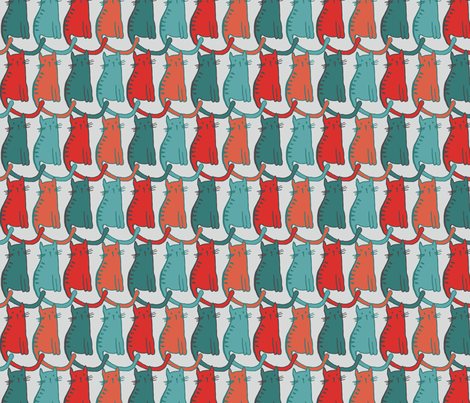 Kitties fabric by scarlette_soleil on Spoonflower - custom fabric