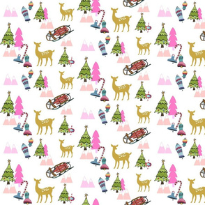 Christmas Meadow 676 - pink
