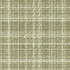 Tweed Plaid Beige Tan Khaki