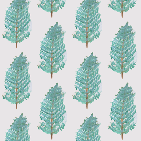 Christmas Trees fabric by mesh_and_cloth on Spoonflower - custom fabric