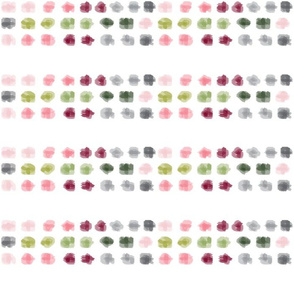 Dots Pink, green, grey, plum