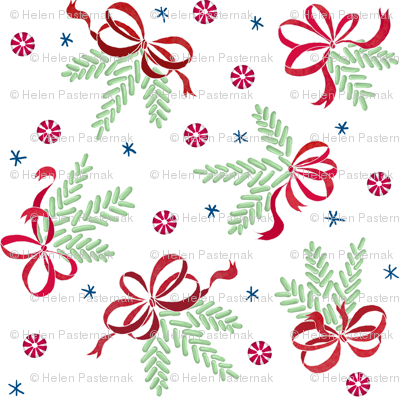 Jellybean pine ornaments (white)