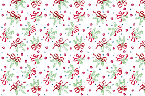 Jellybean pine ornaments (white) fabric by helenpdesigns on Spoonflower - custom fabric