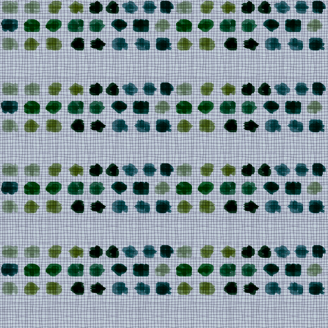 Dots green, turquoise, blue on grey background fabric by barbarapritchard on Spoonflower - custom fabric