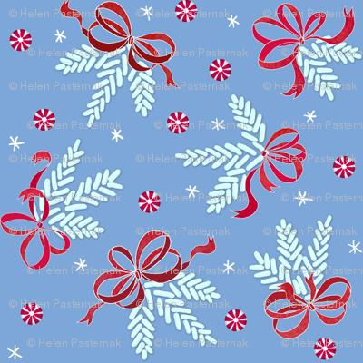 Jellybean pine ornaments (dusty-blue)