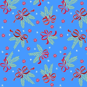 Jellybean pine ornaments (retro-blue)
