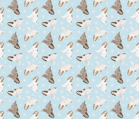 Tiny Spinone Italiano - winter snowflakes fabric by rusticcorgi on Spoonflower - custom fabric