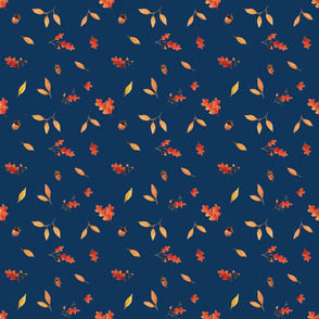 Fall Leaves - Royal