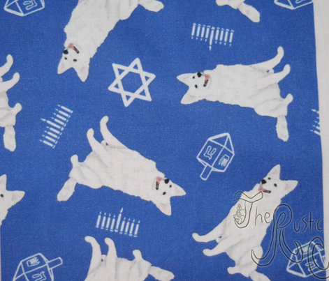 Tiny White Shepherd dogs - Hanukkah