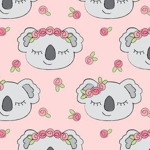 koalas-and-roses-on-pink