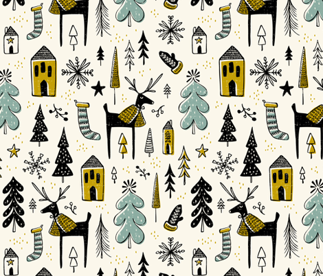 Wonderland - Christmas fabric by heatherdutton on Spoonflower - custom fabric