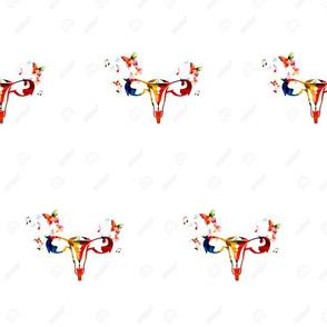 61585834-Ilustraci-n-del-vector-del-sistema-reproductivo-femenino-colorido-con-la-vista-del-tero-trompas-de-F-Foto-de-archivo