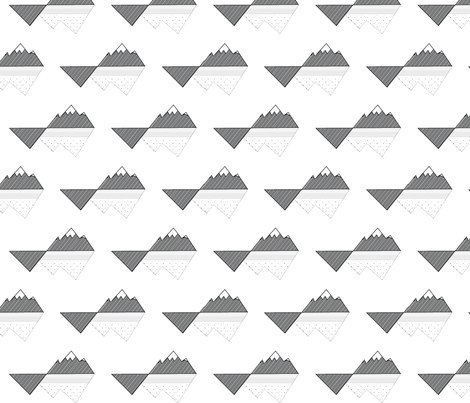 Tectonic Mountain Peaks fabric by facts&figuresdesigns on Spoonflower - custom fabric