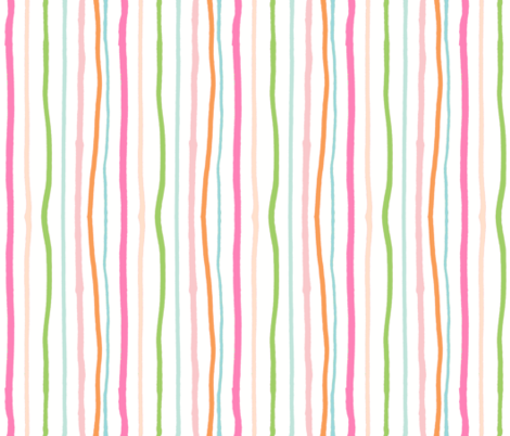 tropical lines7 - pink seafoam 47 fabric by drapestudio on Spoonflower - custom fabric