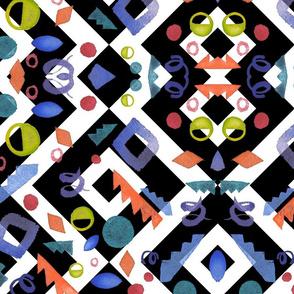 Geometric watercolor wreath and logos_6