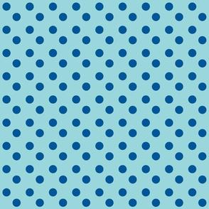 polka dots Med 2x2 - turquoise  ocean