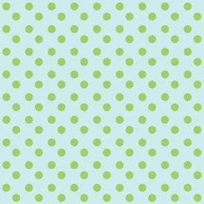 polka dots MED 2x2 - seaglass  lime
