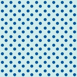 polka dots 2x2 med - seaglass ocean