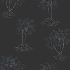 Tonal Palm Trees