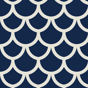 fish scales navy