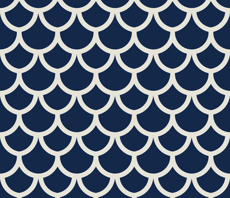fish scales navy fabric by holli_zollinger on Spoonflower - custom fabric