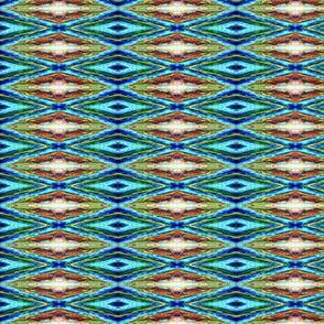 French Impressionist Diamond Pattern
