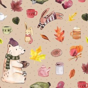 Cozy Autumn on Beige